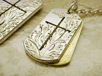 クロスドッグタグ(M)with Brass:真鍮◆メンズブランド掲載